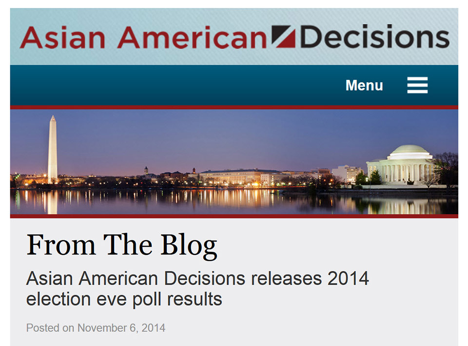 Image of asianamericandecisions.com Home Page Phone view