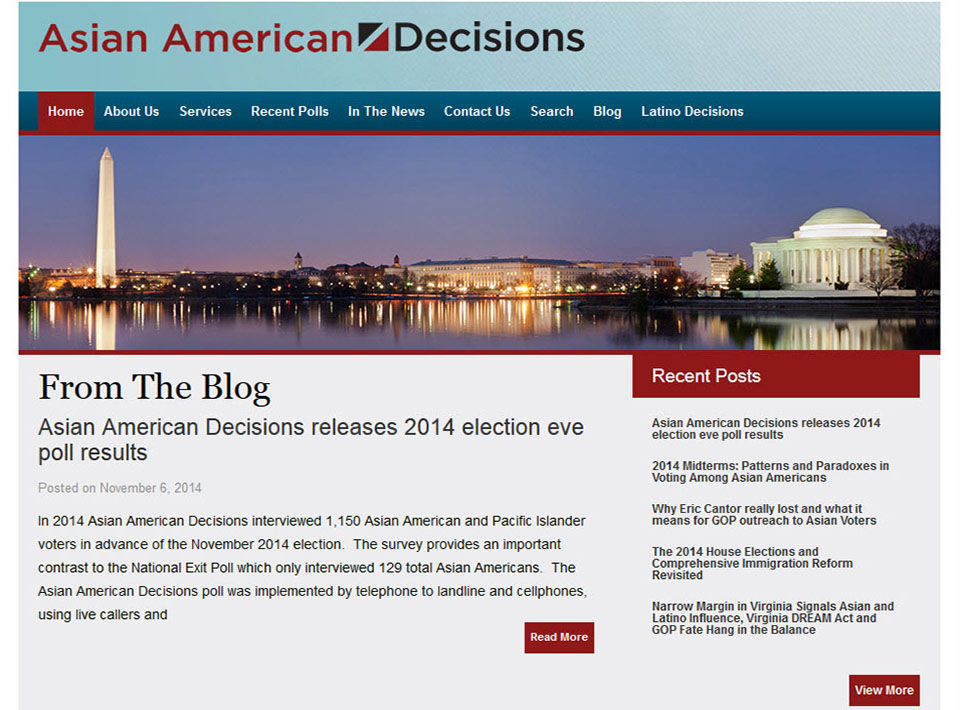 Image of asianamericandecisions.com Home Page