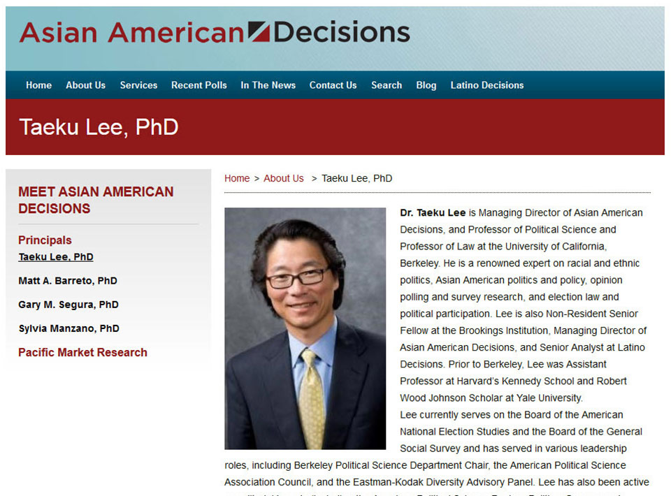 Image of asianamericandecisions.com Profile Page