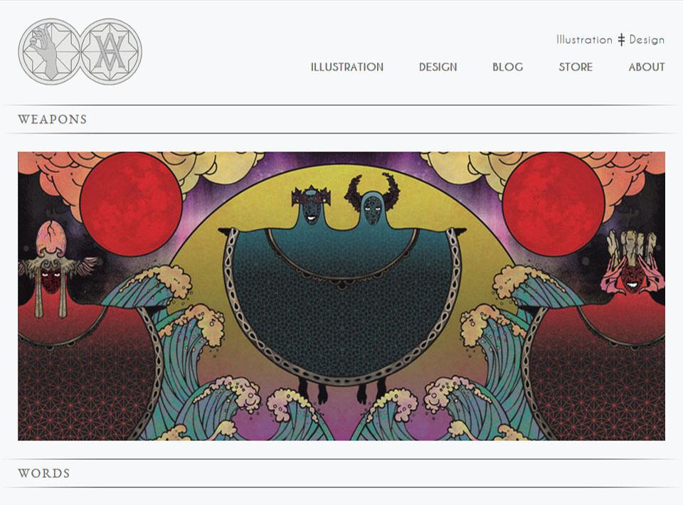 Image of adamvick.com Home Page
