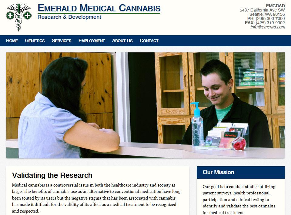 Image of emcrad.com Home Page